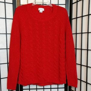 Red Liz Claiborne Sweater With Sparkles sz XL